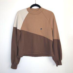 Abercrombie & Fitch Colorblock Boyfriend Crew Sweatshirt Size: Small